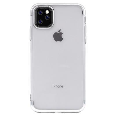 P197 아이폰11프로 컬러라인 클리어 심플 젤리 케이스