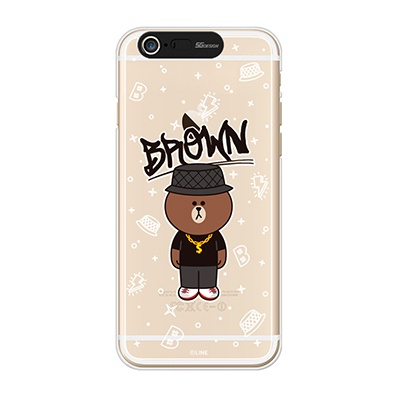iPhone6/iPhone6+ LINE FRIENDS BROWN SWAG Light UP Case