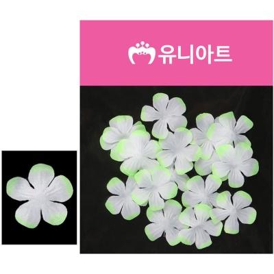 유니아트 벚꽃 백색 연두 조화꽃 꾸미기 장식 소품