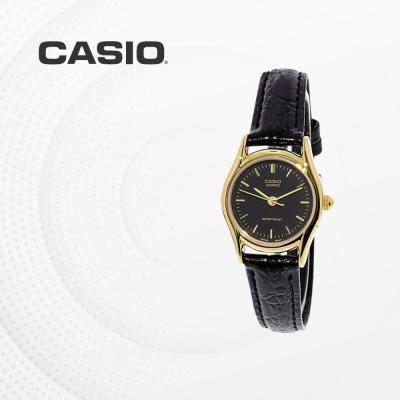 카시오 여성 여자 가죽 패션 손목시계 LTP-1094Q-1A
