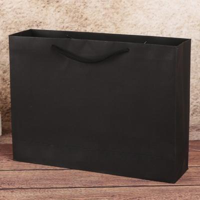무지 가로형 쇼핑백(블랙)(28x20cm)