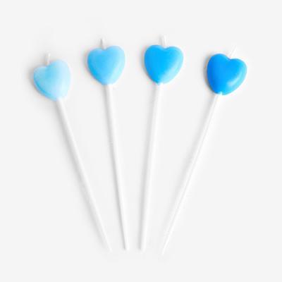 블루 하트 캔들 (1set)