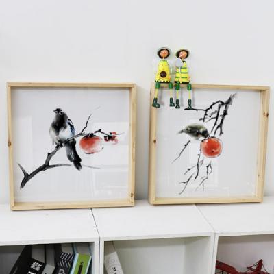 pf564-우드프레임액자_새와감나무(중형)