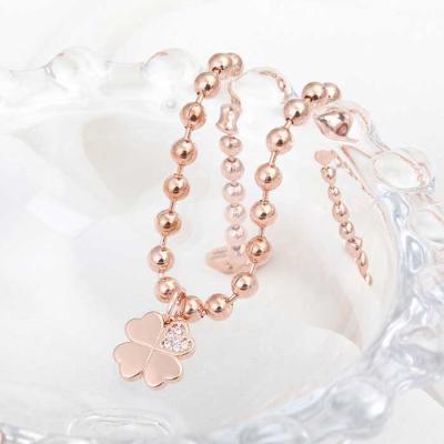 Mujer daily 클로버 bracelet 14KGP rose gold
