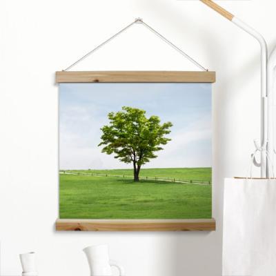 ah309-우드스크롤_60CmX60Cm-화창한날나무한그루