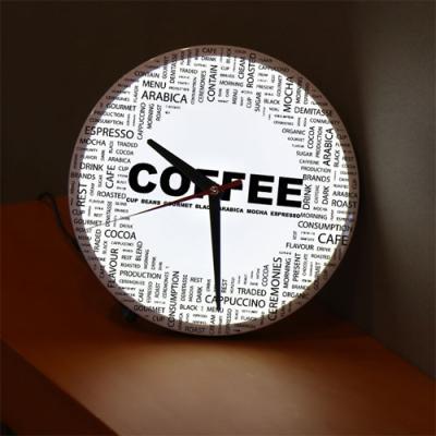ng537-LED시계액자25R_커피캘리