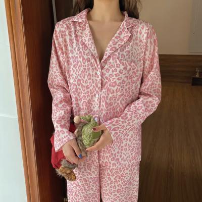 여성 홈웨어 잠옷 세트 파자마 애니드 레오파드세트