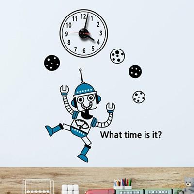 jkc107-아이 러브 로봇1_그래픽시계