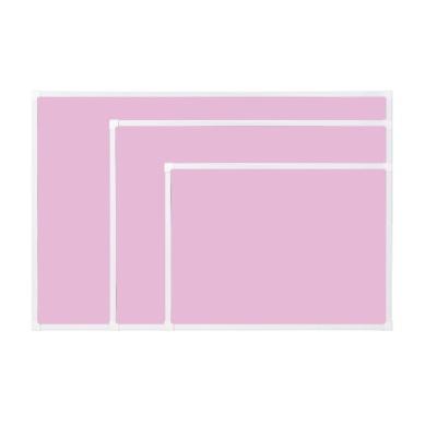 [두문] 더슬림자석보드 핑크 600x400mm