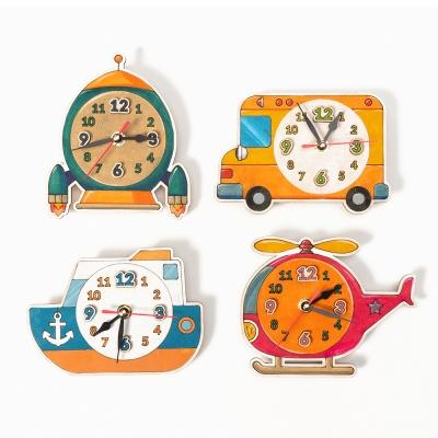 교육용 시계만들기 무브먼트 운송수단모양