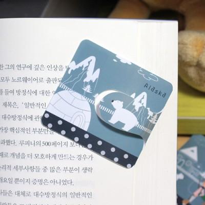 [플라스틱 and 자석 자동책갈피] 자동책갈피 수지인 : 세계여행 - 알래스카