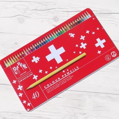 까렌다쉬 수채색연필-스위스컬러 40색 메탈박스
