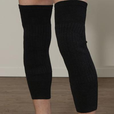 니트 호랑무늬기모 방한 무릎 보호대