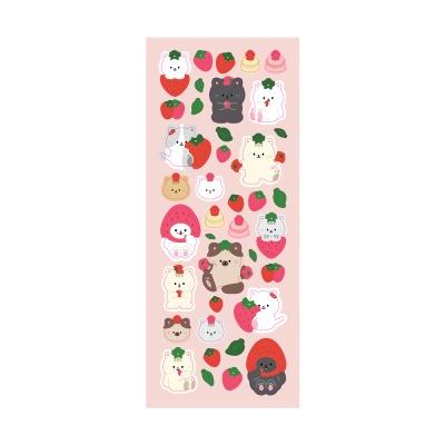 민트초코 딸기스티커