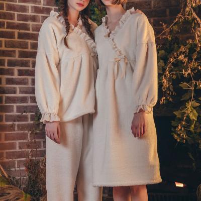 Angel 사선 레이스 투피스 수면잠옷 여성홈웨어