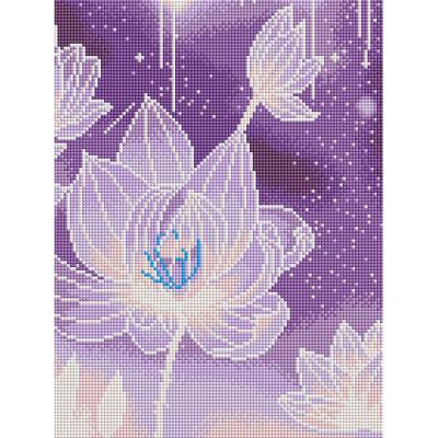 블링블링 연꽃 (캔버스형) 보석십자수 30x40