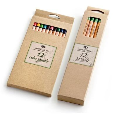 포레스트초이스 색연필세트 원목 HB연필 12색색연필