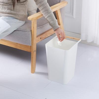우드 손잡이 분리수거 쓰레기통 휴지통