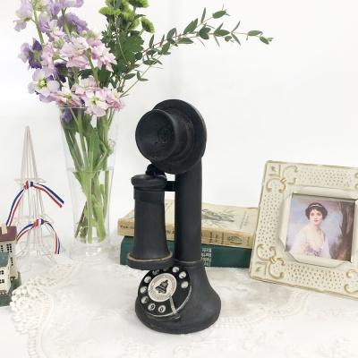빈티지 엔틱 블랙 1구 전화기 소품