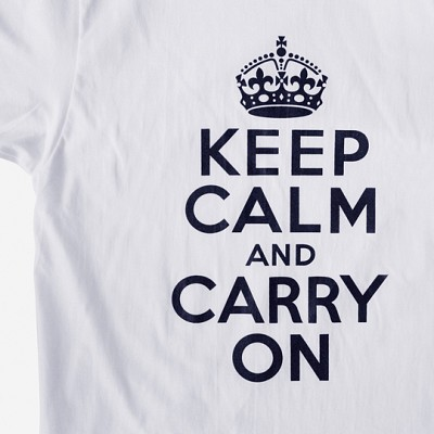 (Unisex) Keep Calm Premium Cotton 5.3 oz T-Shirt - White