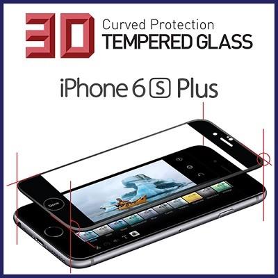 iPhone6S Plus 풀커버 3D포밍 강화유리 액정필름Black