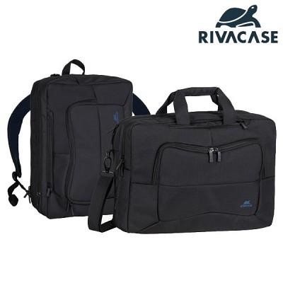16형 백팩 겸 숄더형 노트북 가방 RIVACASE 8490 (태블릿PC & 액세서리 수납 공간 / 여행용 캐리어 장착 가능)