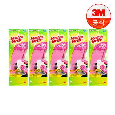 [3M]베이직 고무장갑(소) 5개세트