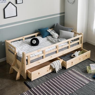 인터데코 소나무 원목 서랍형 데이베드 침대소파 슬림포켓매트포함 S C02