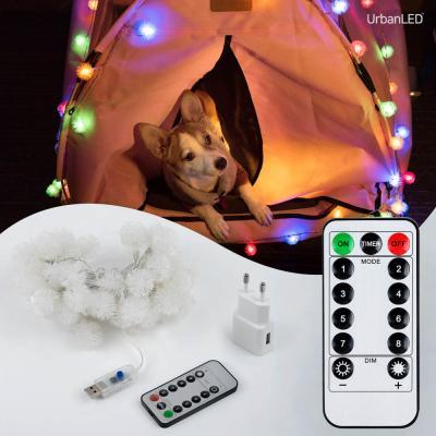 어반 LED 눈꽃전구 50구 USB형 컬러