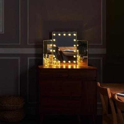 [Ldlab] 시크릿 LED 3단 화장대 거울