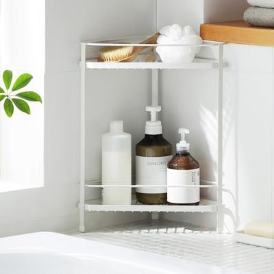 화이트메탈 삼각 주방 욕실 싱크대 정리 수납 선반