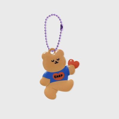 Dancing bear heart-blue(PVC키링)