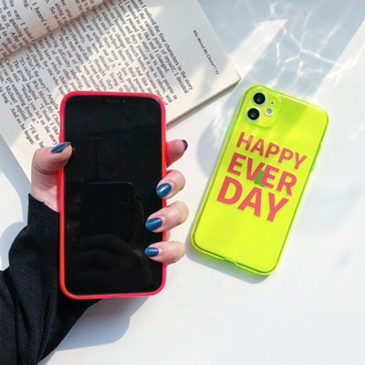 아이폰11 pro max 형광 네온 컬러 투명 젤리 폰케이스