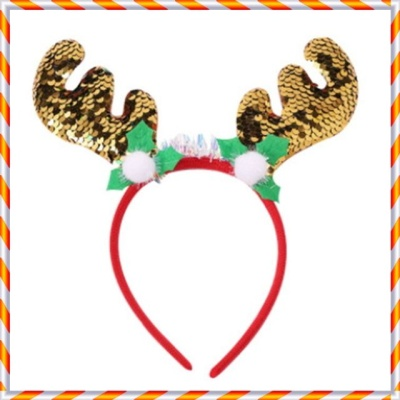 크리스마스 머리띠 모음 파티용품 X-MAS (스팽글-Y)
