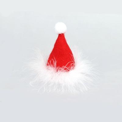 산타모자머리핀 크리스마스머리핀