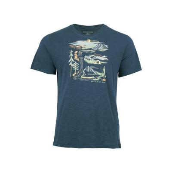 [유나이티드바이블루] 리버밴드 반팔 티셔츠 네이비