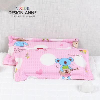 [디자인엔] 순면 앙팡 키즈메모리폼베개-핑크