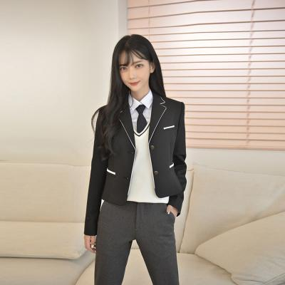 화이트 라인 여자 자켓 교복 교복자켓 교복마이