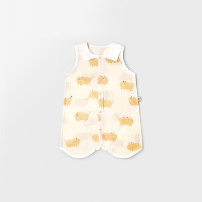 [메르베] 뚱냥이 아기수면조끼_여름용