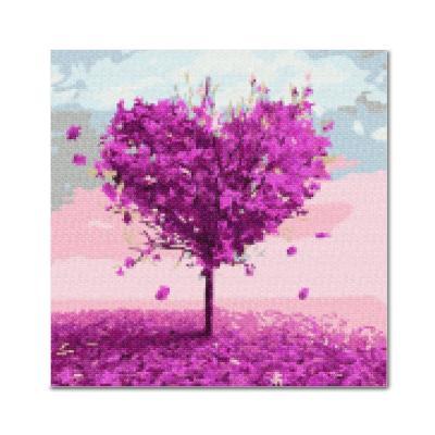 DIY 보석십자수 - 퍼플하트나무 BE17 (25x25)