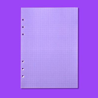 A5 육공 리필 모눈노트 - 퍼플 (6공)