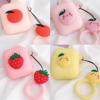 에어팟실리콘케이스 귀여운 캐릭터 키링 1/2_딸기 320