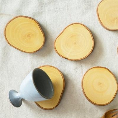 엔틱 빈티지 인테리어 고급 과일 나무 이쁜 컵받침