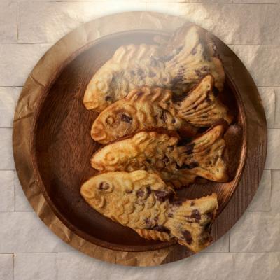 pf214-원형아크릴액자_겨울간식(붕어빵)