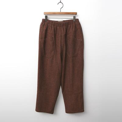 Wool Cotton Baggy Pants - 기모안감