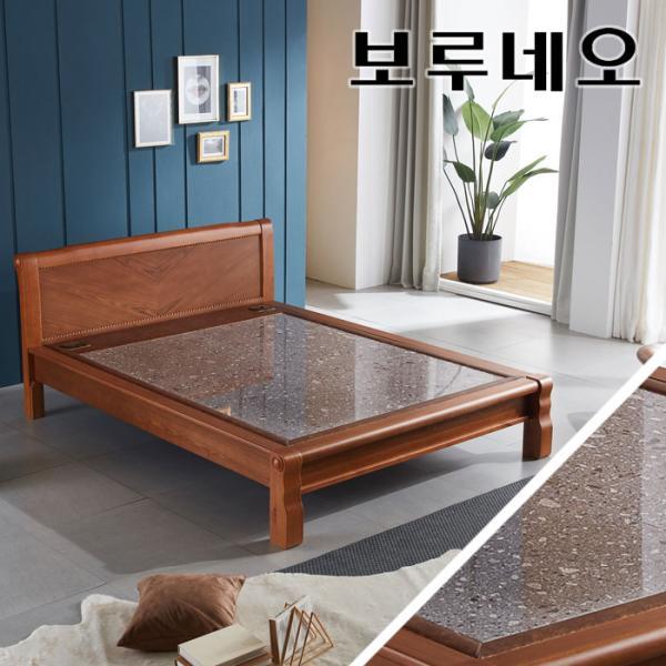[랜선할인]모닝듀 온열 맥반석 돌침대 퀸 YS301Q