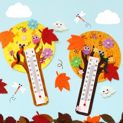 가을 나무 온도계 5set