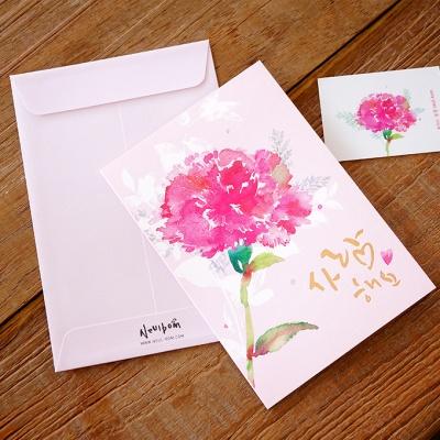카네이션 카드(#사랑해요)