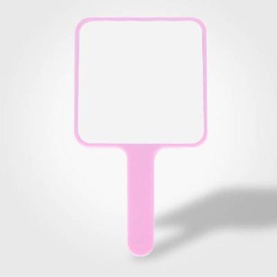 평면 사각손거울 핑크(인쇄진행불가) 손거울 미용거울