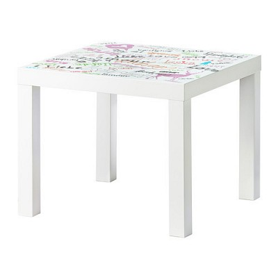 LACK side table/ 사이드 테이블 (55*55*45, love)